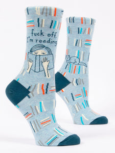 Fun Women's Socks, Fuck Off, I'm Reading - Two Hoots Gift Gallery