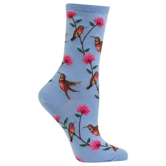 Fun Women's Socks, Hummingbirds - Two Hoots Gift Gallery