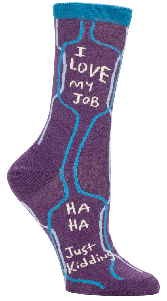 Fun Women's Socks, Love My Job...Just Kidding - Two Hoots Gift Gallery