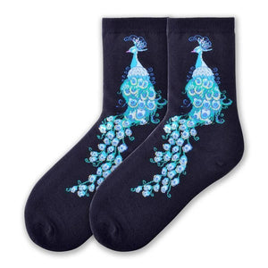 Fun Women's Socks, Peacocks - Two Hoots Gift Gallery