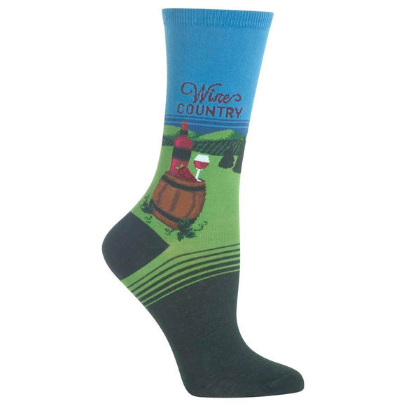 Fun Women's Socks, Wine Country - Two Hoots Gift Gallery