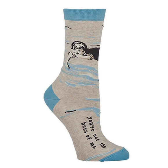 Fun Women's Socks, You're Not the Boss of Me - Two Hoots Gift Gallery
