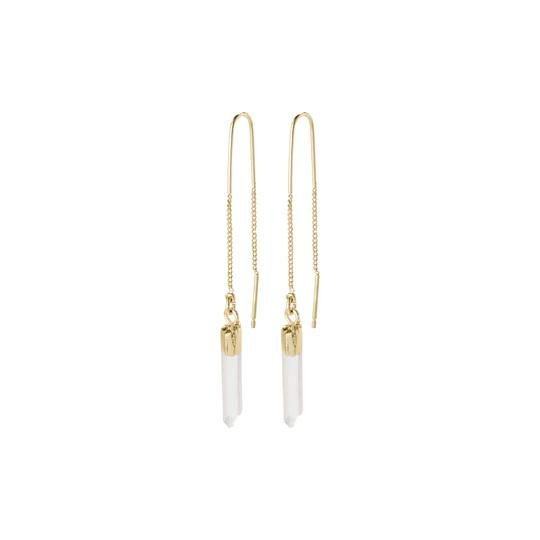 Gold Crystal Drop Earrings - Two Hoots Gift Gallery