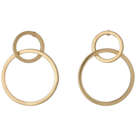 Harper Gold Entwined Rings Earrings - Two Hoots Gift Gallery