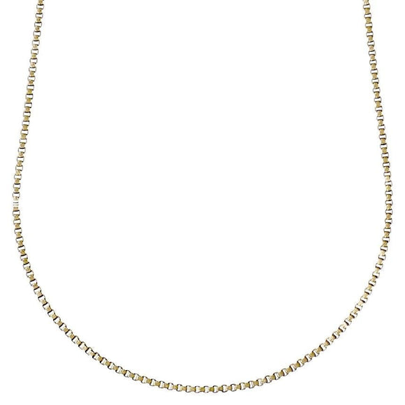 Nancy Plain Gold Chain 60cm - Two Hoots Gift Gallery