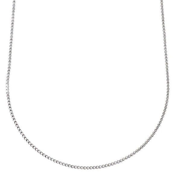 Nancy Plain Silver Chain 80cm - Two Hoots Gift Gallery