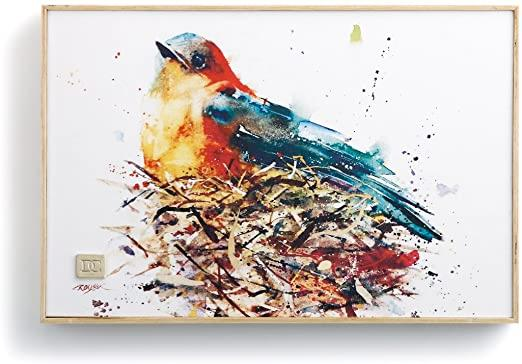Nesting Bird, Framed Canvas Print by Dean Crouser, approx 8
