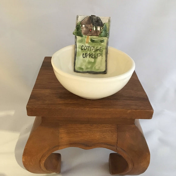 Pottery Coin Bowl, Cottage Upkeep, Donations - Two Hoots Gift Gallery