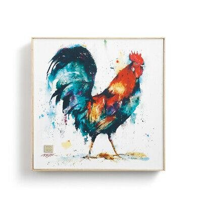 Rooster, Framed Canvas Print by Dean Crouser, approx 10