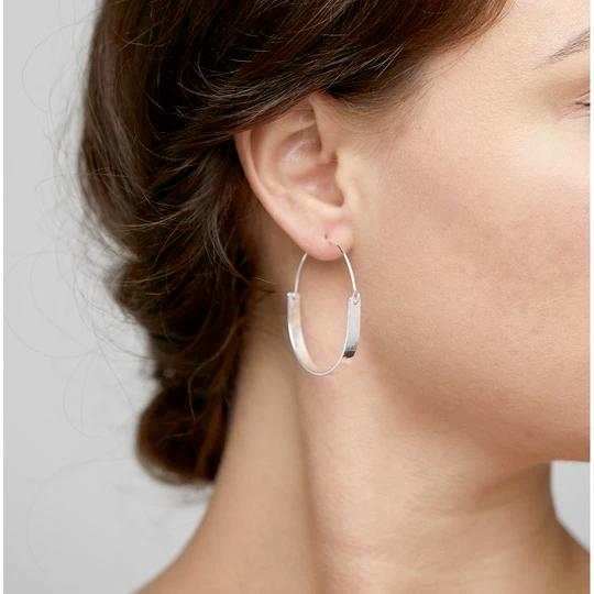 Silver Idina Hoop Earrings - Two Hoots Gift Gallery