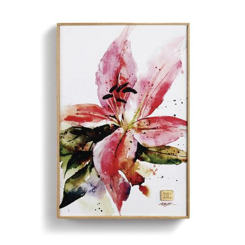 Stargazer Lily Framed Canvas Print by Dean Crouser, 8.25