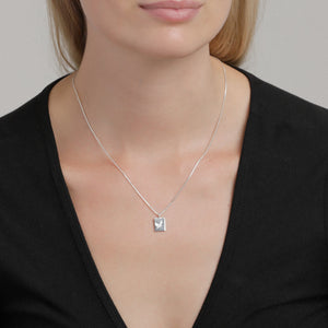Tana Silver Crane-Etched Pendant Necklace - Two Hoots Gift Gallery