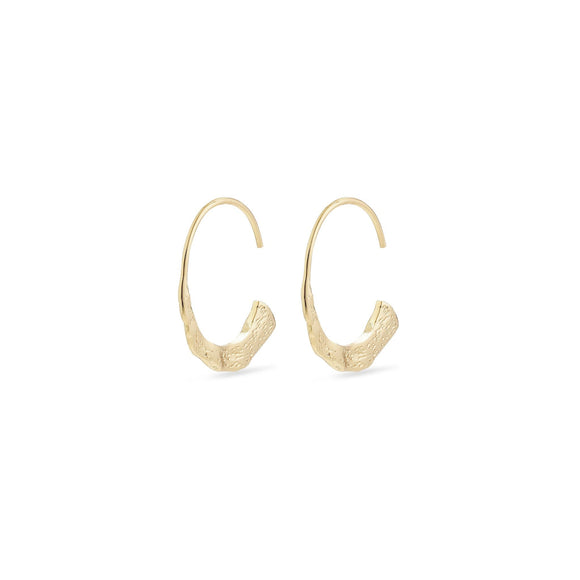 Valkyria Gold Hammered Semicircle Earrings - Two Hoots Gift Gallery