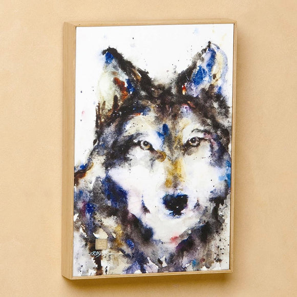 Wolf Framed Canvas Print by Dean Crouser, 8.25