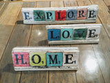 Wooden Scrabble-style Decor Signs - Two Hoots Gift Gallery