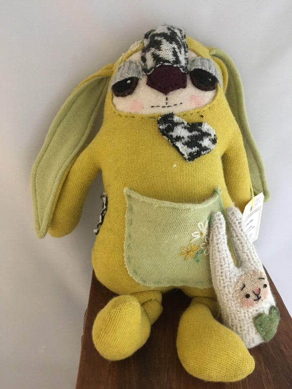 Wooly Critters: Chartreuse Bunny - Two Hoots Gift Gallery