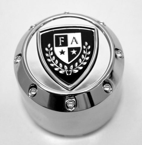 FA-9909 (Chrome) Crest Cap - Wheel Pros Powersports Division