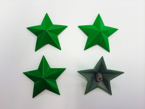 Cap Stars - Vibrant Green - Wheel Pros Powersports Division