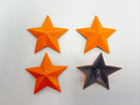 Cap Stars - Orange Crush - Wheel Pros Powersports Division