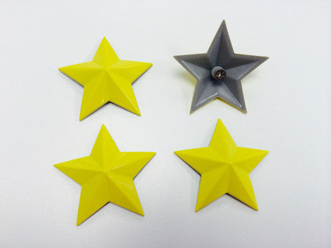 Cap Stars - Canary Yellow - Wheel Pros Powersports Division