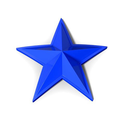 Rockstar Cap Stars (5 Pack) - Blue - Wheel Pros Powersports Division