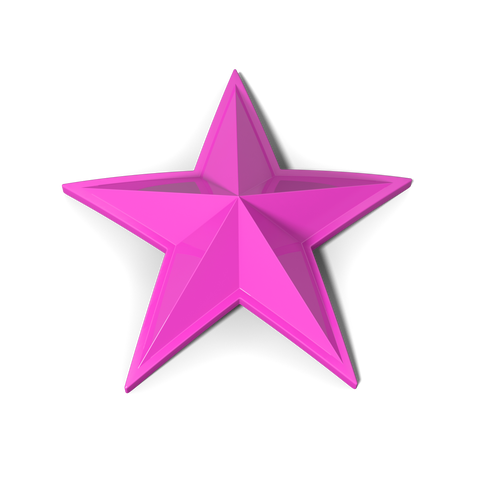 Rockstar Cap Stars (5 Pack) - Pink - Wheel Pros Powersports Division