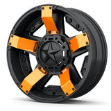 Rockstar UTV Wheels - Custom Colors Fins Stars Orange 1