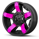 Rockstar UTV Wheels - Custom Colored Fins Pink 2