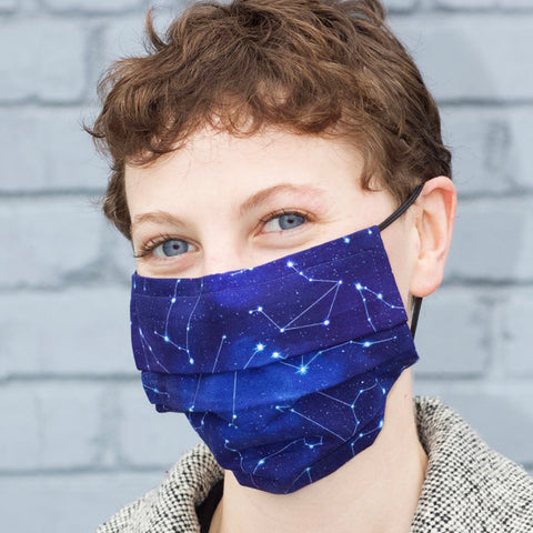 Person wearing starry night mask