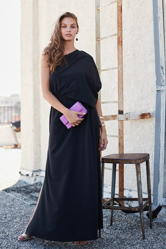 Vestido one shoulder negro
