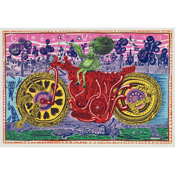 Selfie with Political Causes - Grayson Perry - Art For Heroes