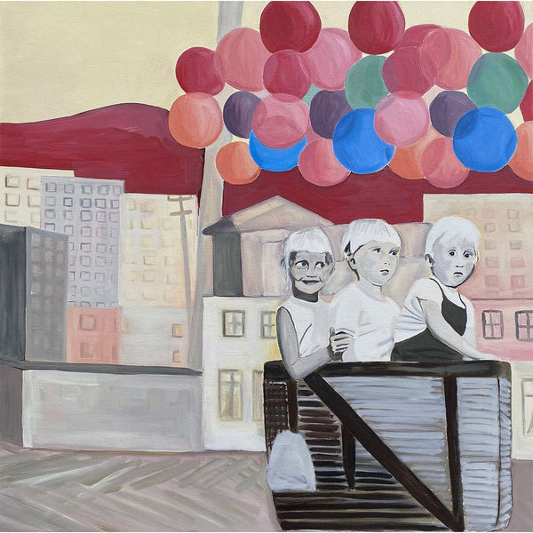 Kids and Balloons - Molly Brocklehurst - Art For Heroes