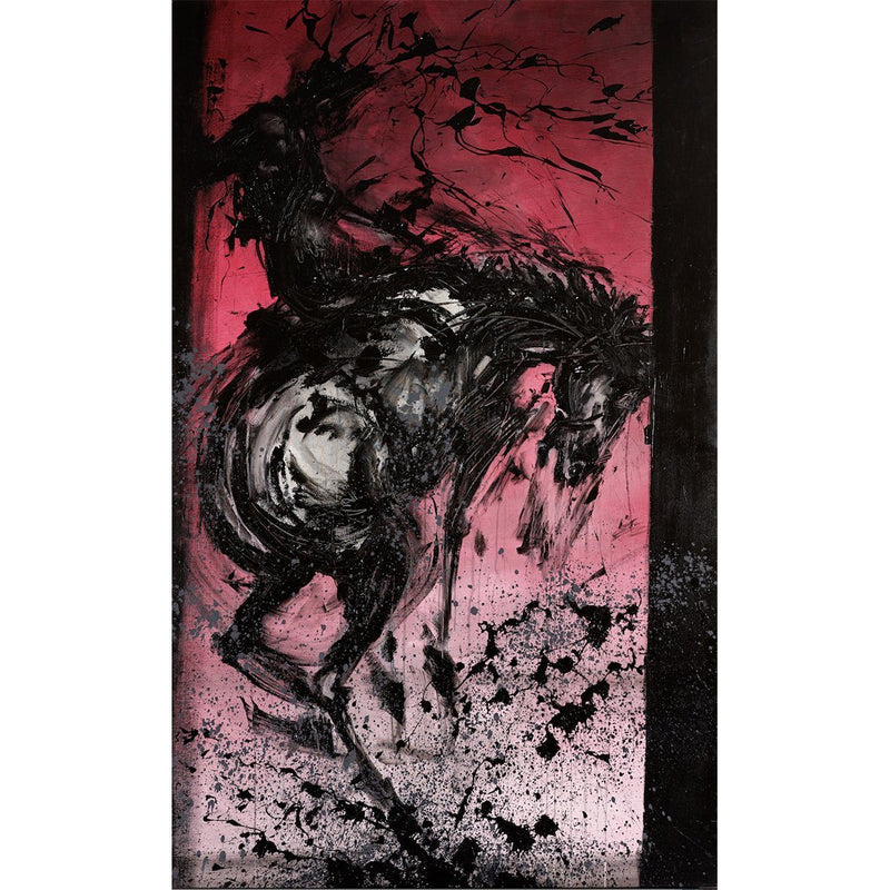Horse & Rider - Bucking Red - Richard Hambleton - Art For Heroes
