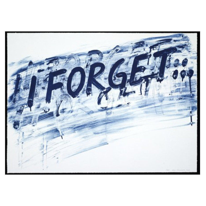 I Forget - Mel Bochner - Art For Heroes