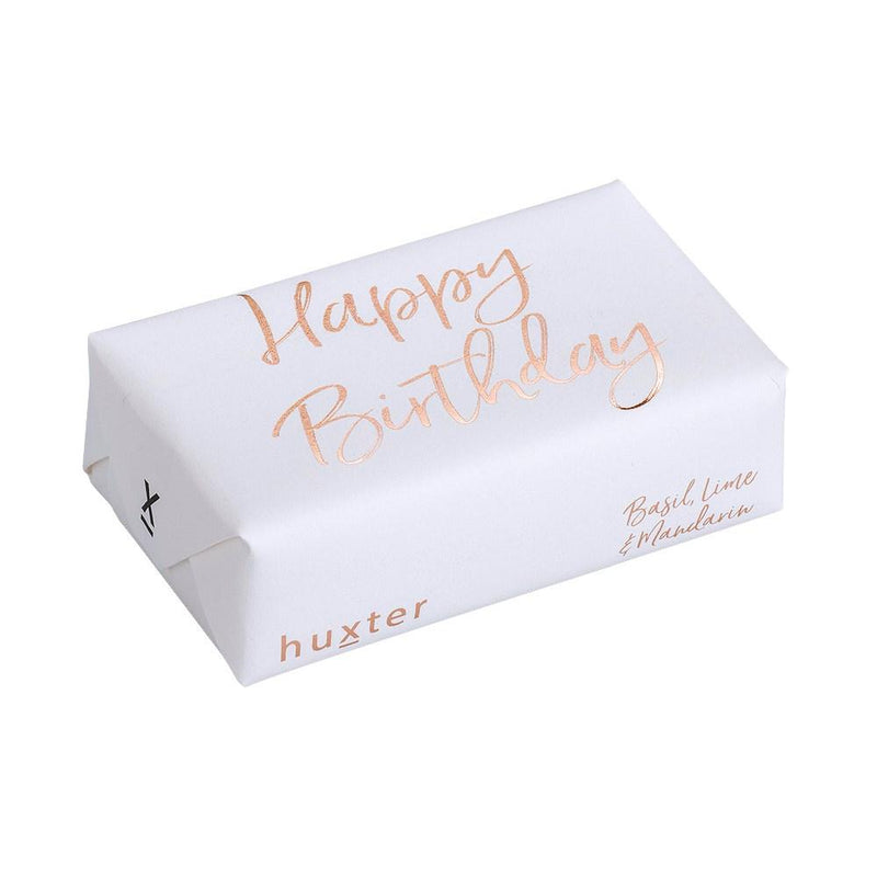 SOAP Happy Birthday - White - ROSE GOLD FOIL