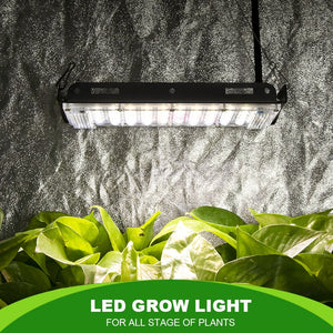 Quiet and Waterproof. 800W equivalent handles up to 10 closely spaced plants.
