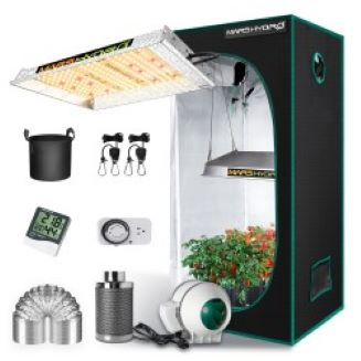 Mars Hydro TS 600 LED Grow Light + 2'x2' Indoor Tent Kits Combo Carbon Filter