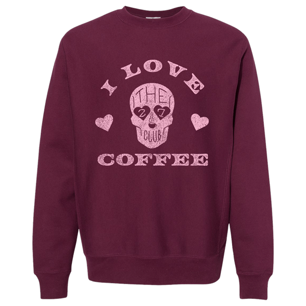 I Love Coffee Crewneck
