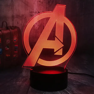 The Glowing Avengers Logo