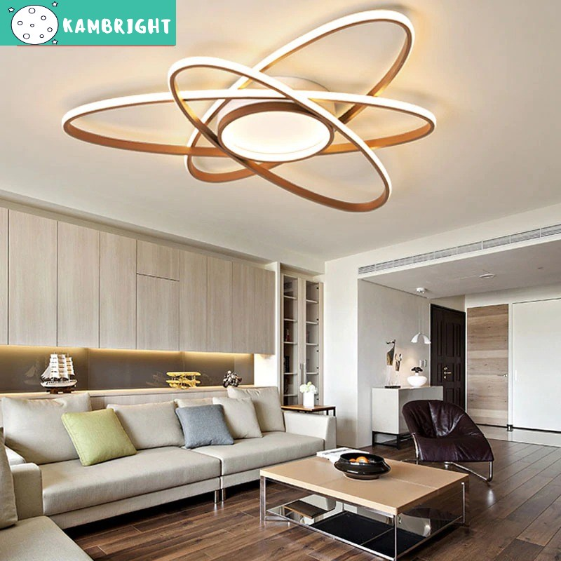 A suspended chandelier based on a modern classic chandelier design, an arrangement of three Elliptical Shaped Lights.