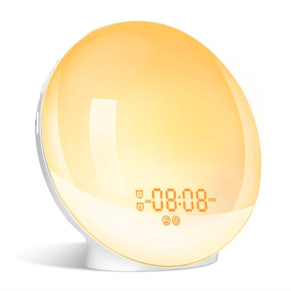 Alarm Clock with Lighting Effects Night Lamp with 20 Programmable Brightness Alarms Simulation of Sunrise and Sunset
