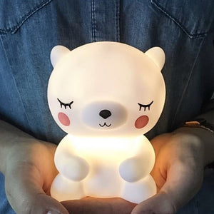 Cute panda shape night light.Exquisite workmanship, environmentally friendly materials, more rest assured to use.