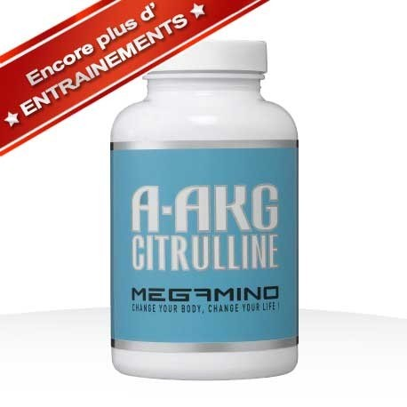 commandant costaud acides aminés 100% pure arginine kétoglutarate A-AKG et citrulline malate futurelab 200 gélules végétales  pot