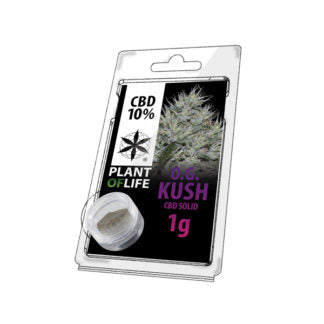 Commandant Costaud résine de cbd 10% de cbd O.G Kush cannabis 100% légal