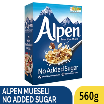ALPEN MUESELI NO ADDED SUGAR 560G