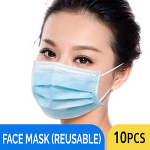 FACE MASK 3 PLY (REUSABLE) 10PCS