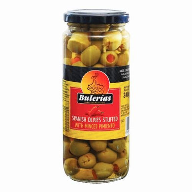 BULERIAS GREEN STUFFED OLIVES 340G - SmartGrocery-LK
