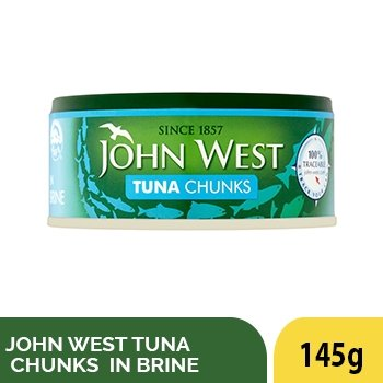 JOHN WEST TUNA CHUNKS IN BRINE 145G - SmartGrocery-LK
