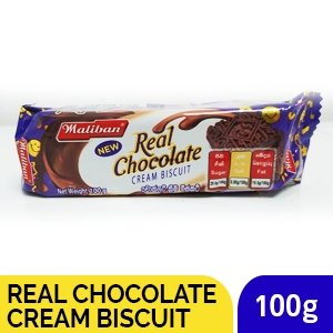 MALIBAN REAL CHOCOLATE CREAM BISCUIT 100G - SmartGrocery-LK