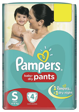 PAMPERS PANTS SMALL 4'S - SmartGrocery-LK